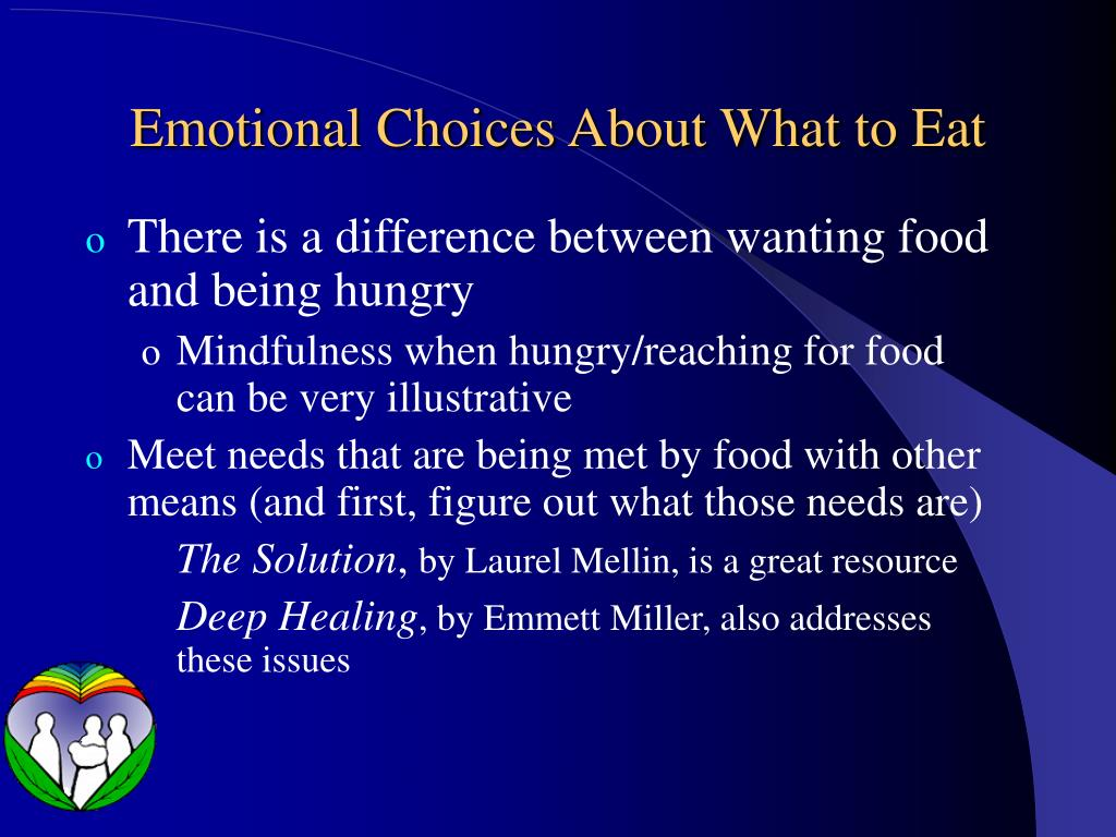 Emotional Choices About What to Eat