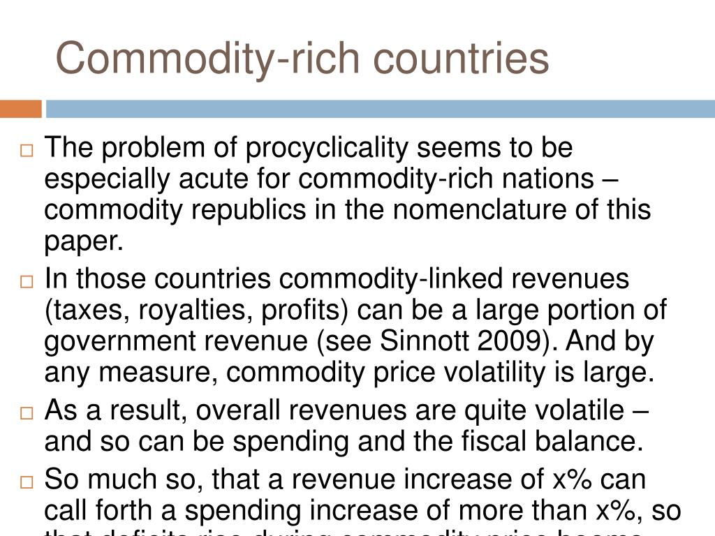 Commodity-rich countries