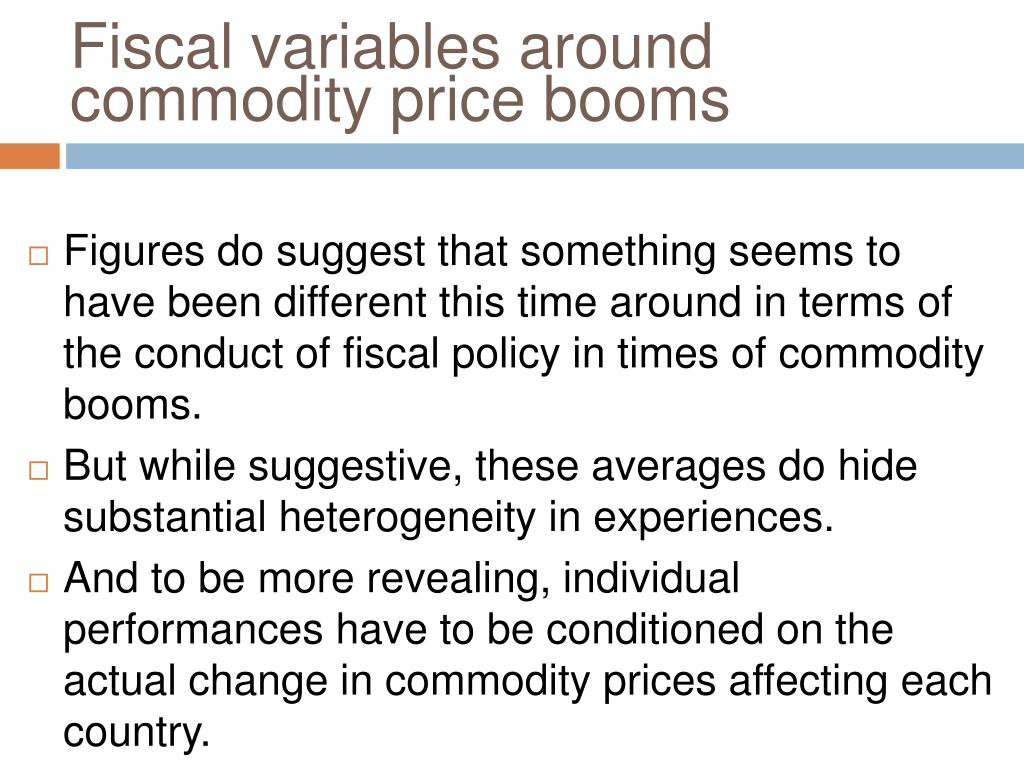 Fiscal variables around