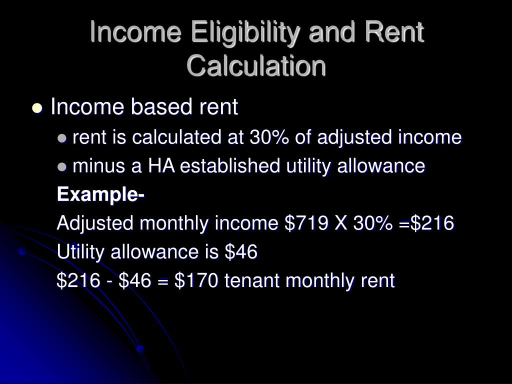Income Eligibility and Rent Calculation