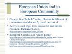european union and its european community