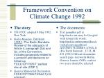 framework convention on climate change 1992