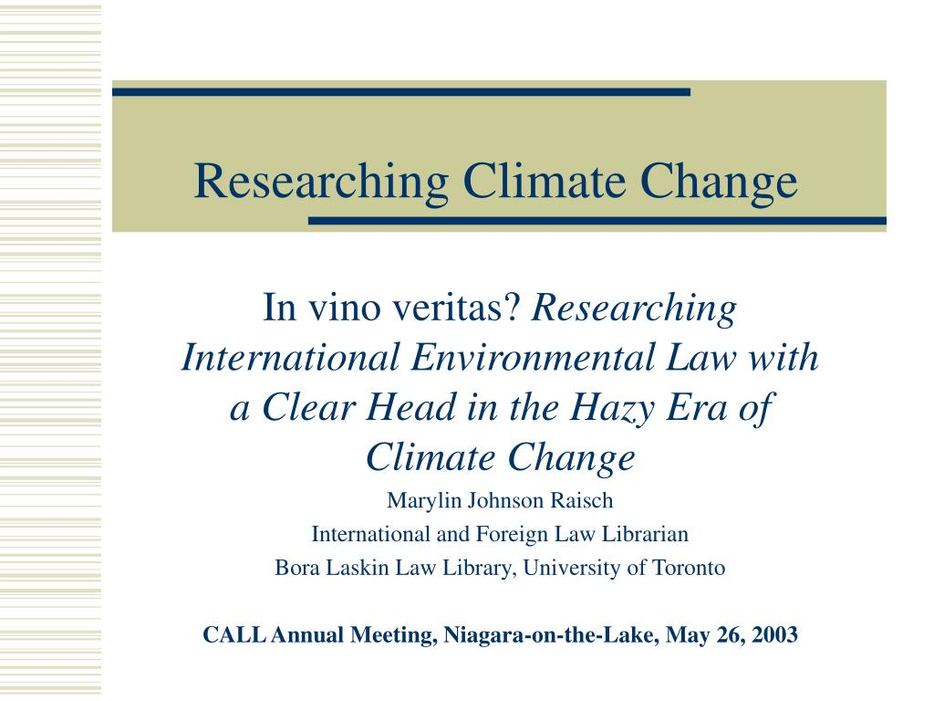 researching climate change l.
