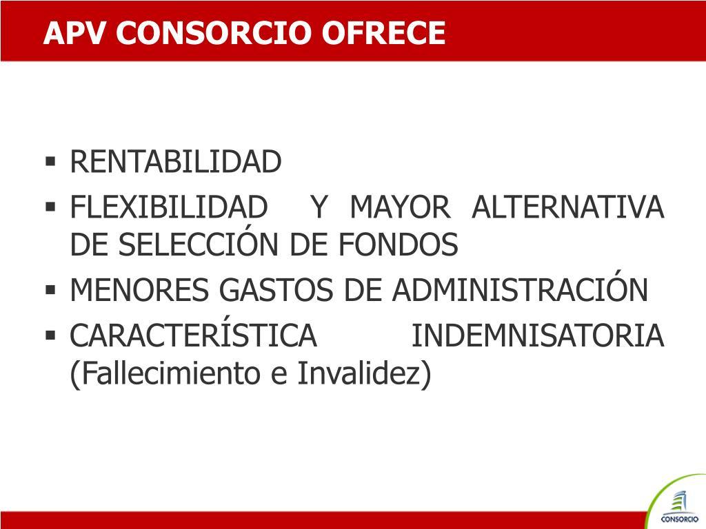 APV CONSORCIO OFRECE