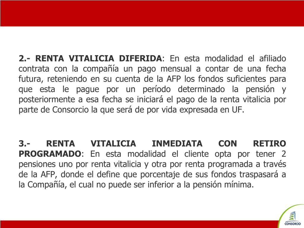 2.- RENTA VITALICIA DIFERIDA