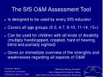 the sfs o m assessment tool