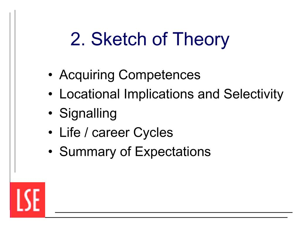 2. Sketch of Theory