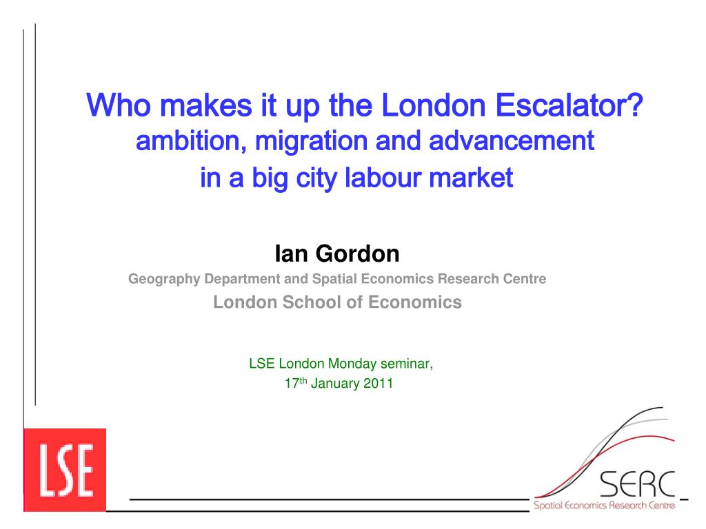 Who makes it up the London Escalator?