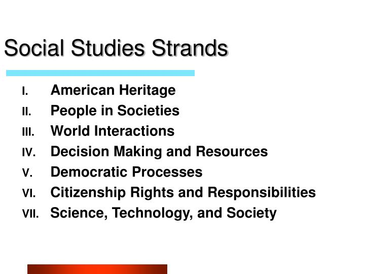 Social studies strands