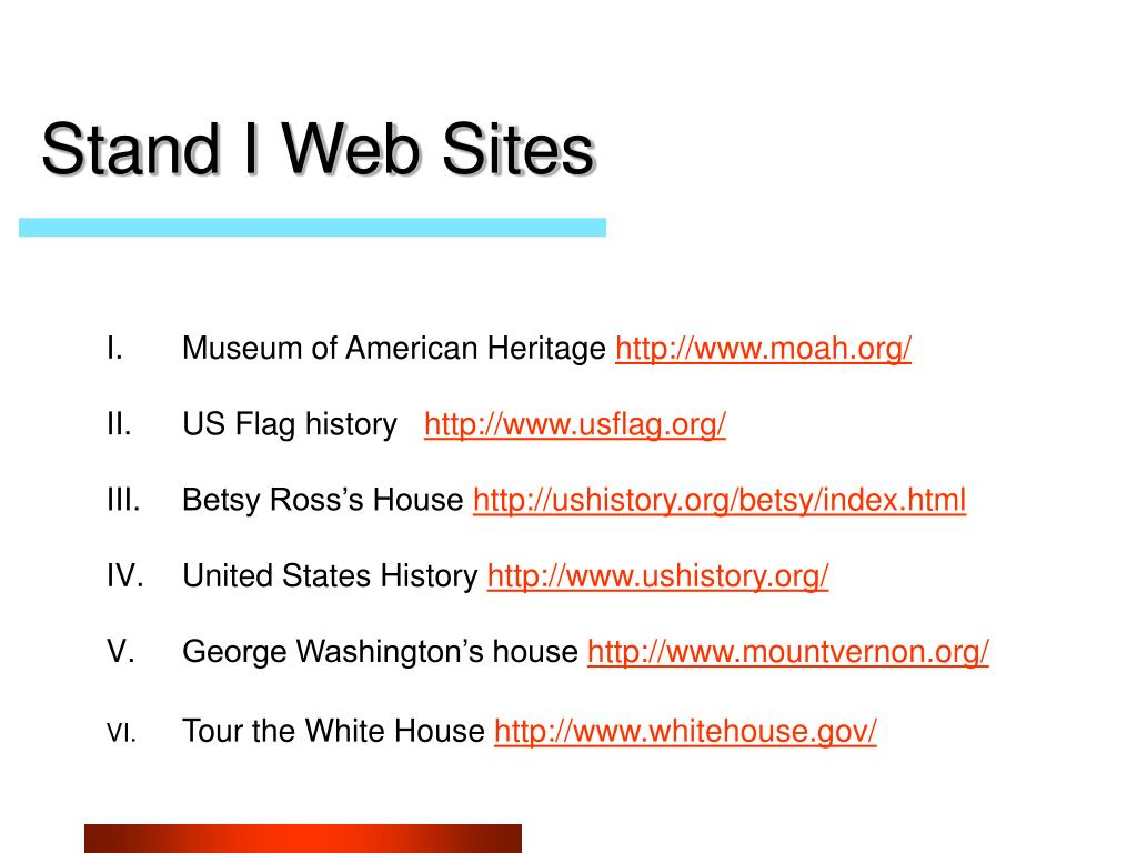 Stand I Web Sites