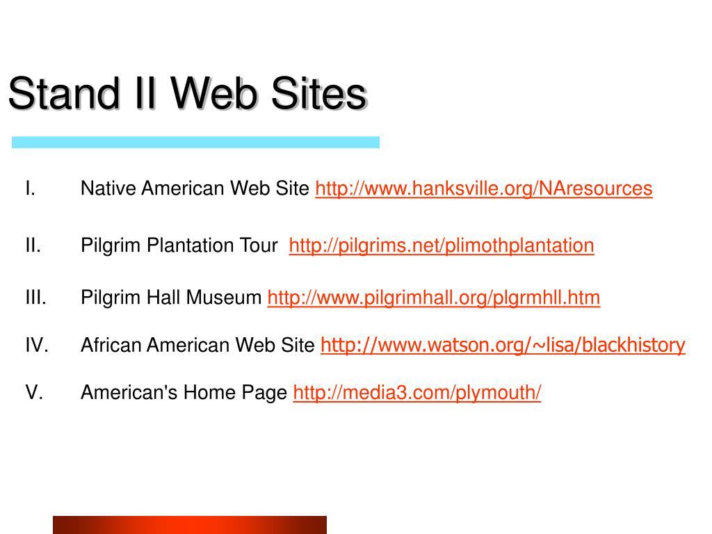 Stand II Web Sites