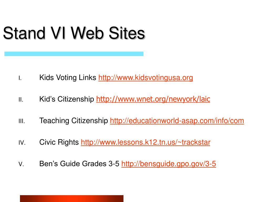 Stand VI Web Sites