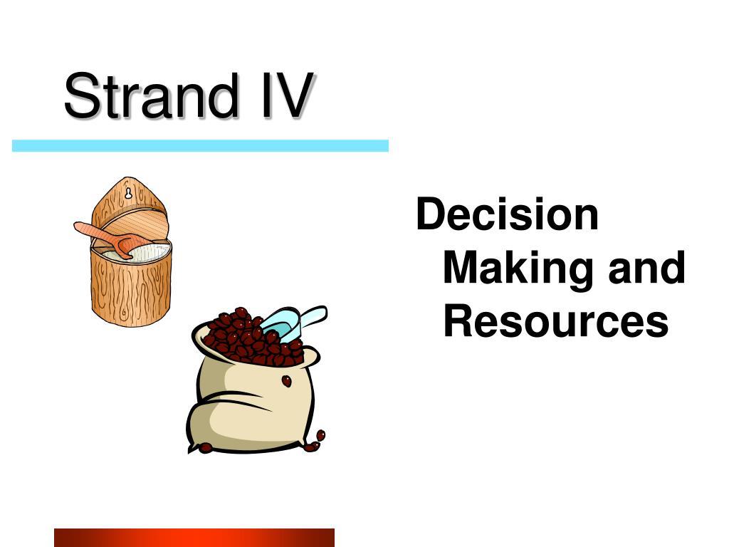 Strand IV