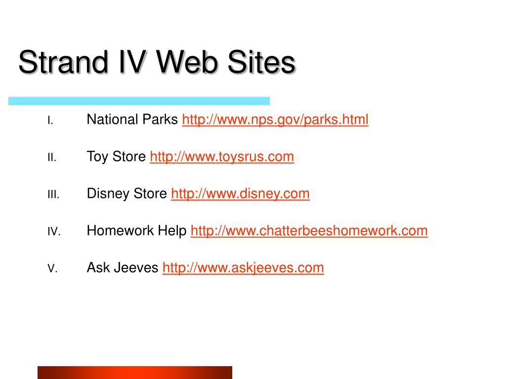 Strand IV Web Sites