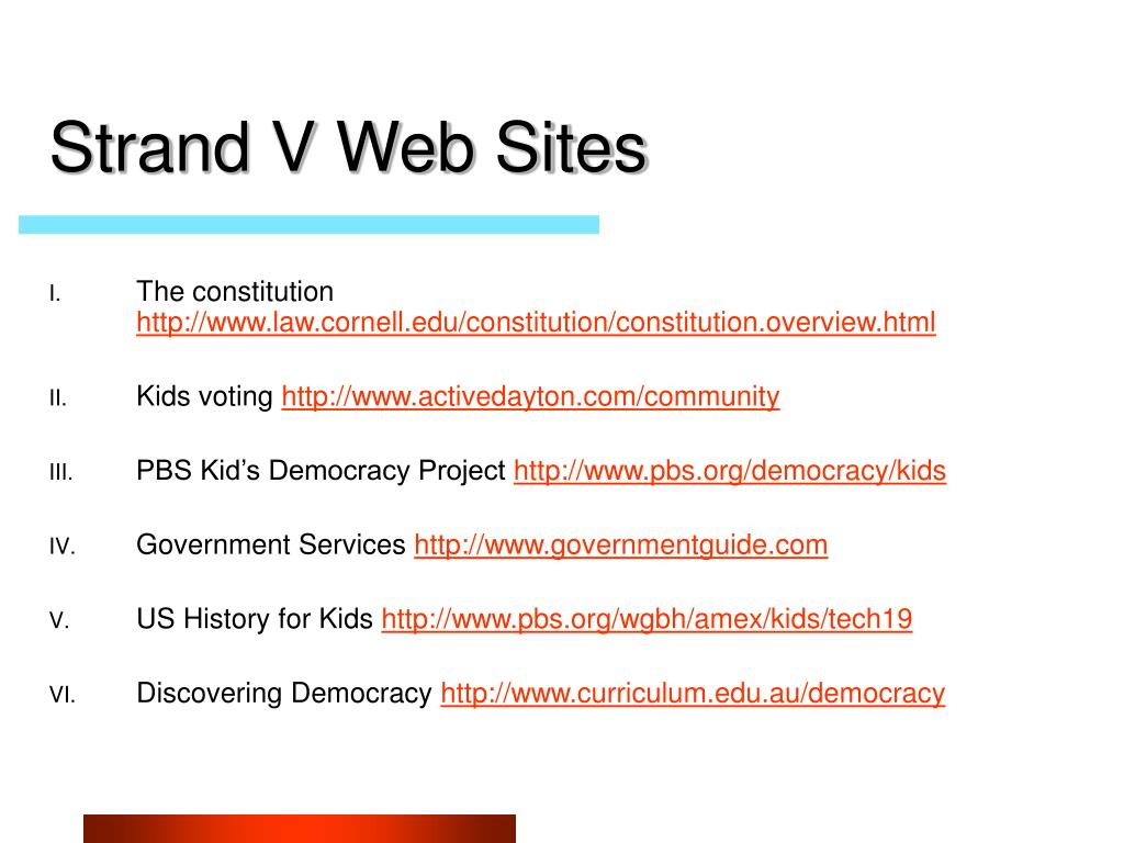 Strand V Web Sites