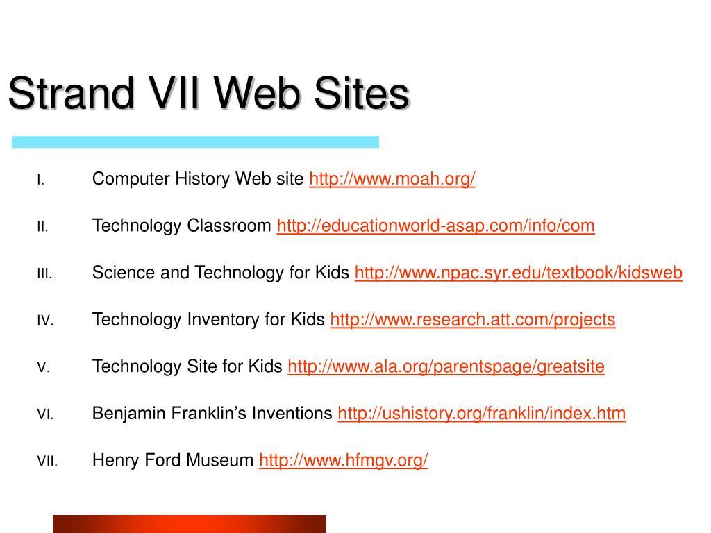 Strand VII Web Sites
