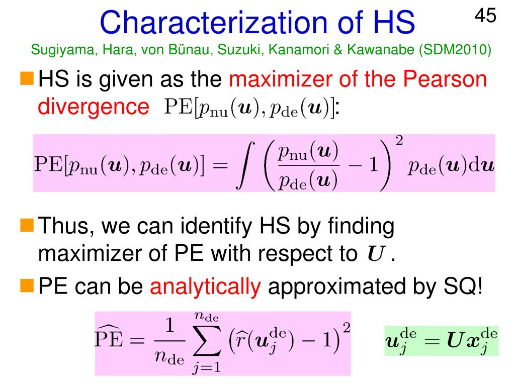 Characterization of HS