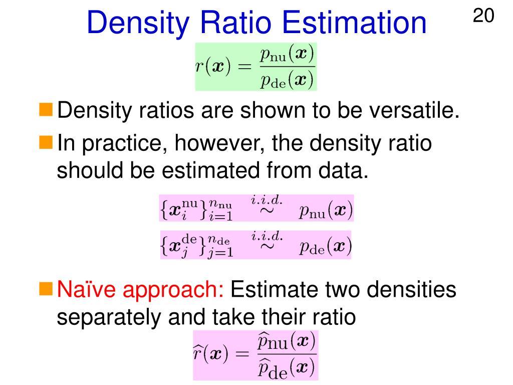 Density Ratio Estimation