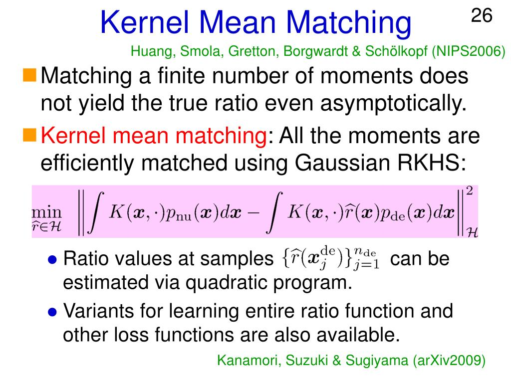 Kernel Mean Matching