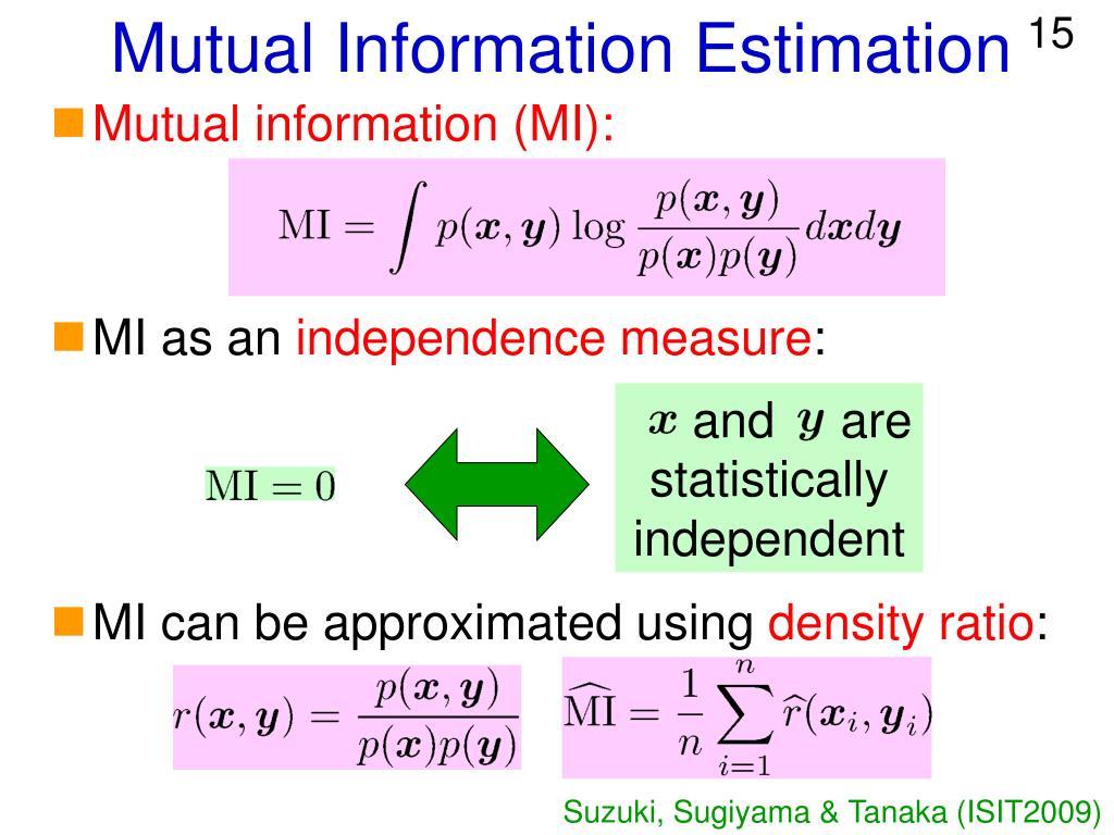 Mutual Information Estimation
