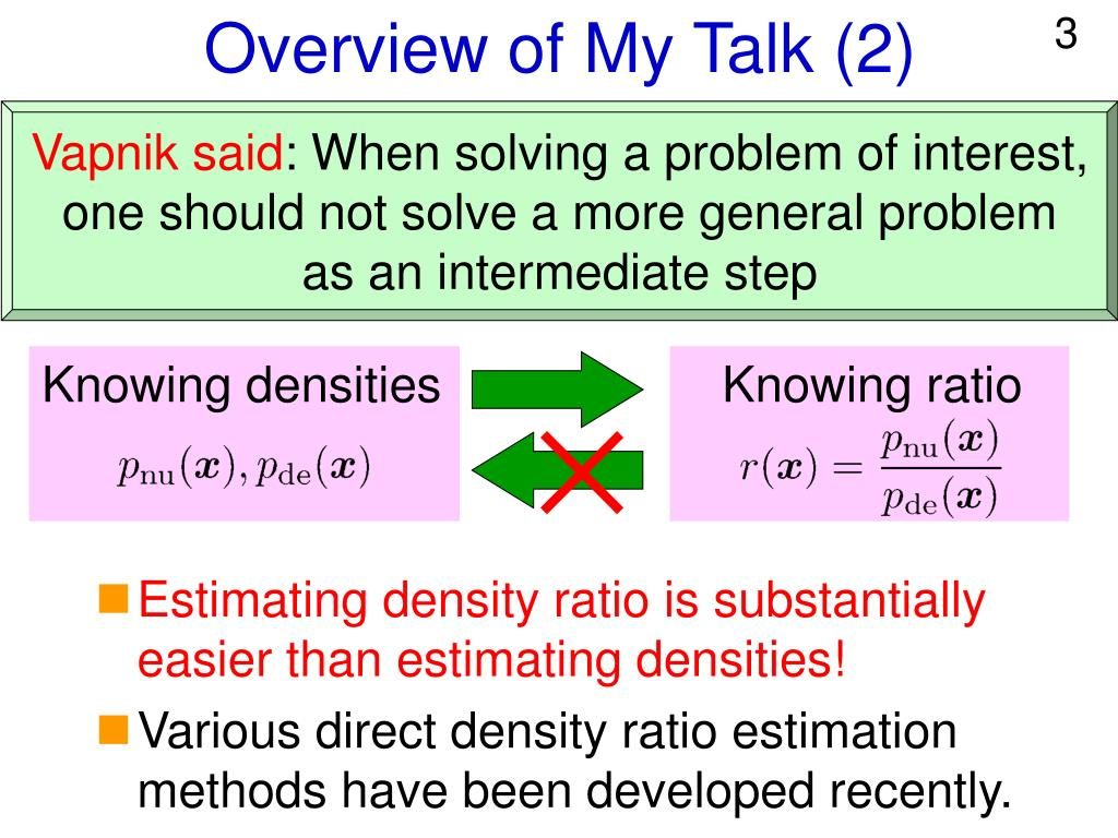 Overview of My Talk (2)