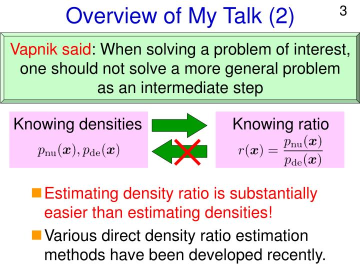 Overview of my talk 2