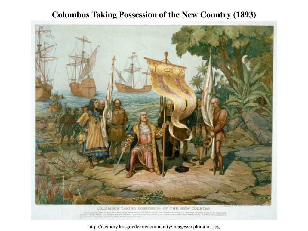 Columbus Taking Possession of the New Country (1893)