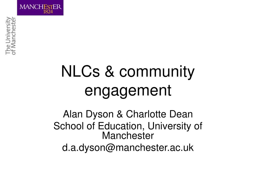 NLCs & community engagement