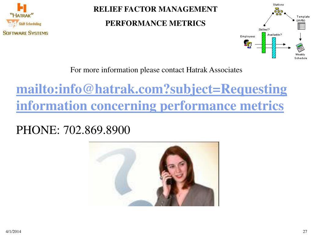 For more information please contact Hatrak Associates
