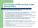 the evolution of pac services in sub saharan africa 17