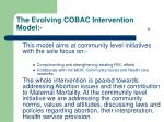 the evolving cobac intervention model 26