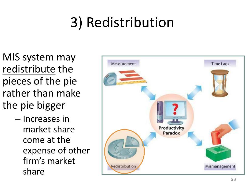 3) Redistribution