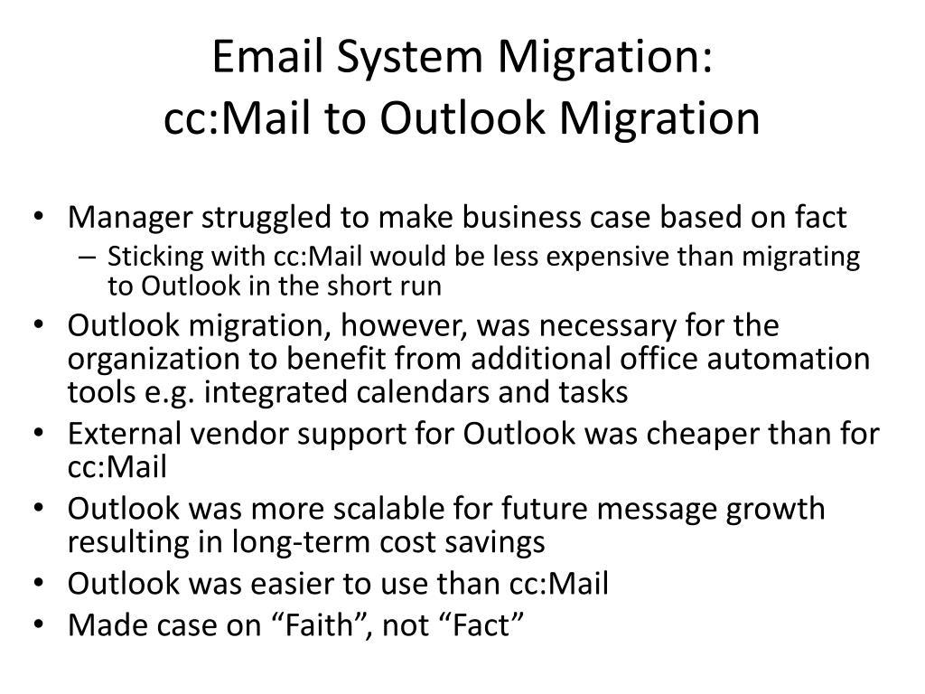 Email System Migration: