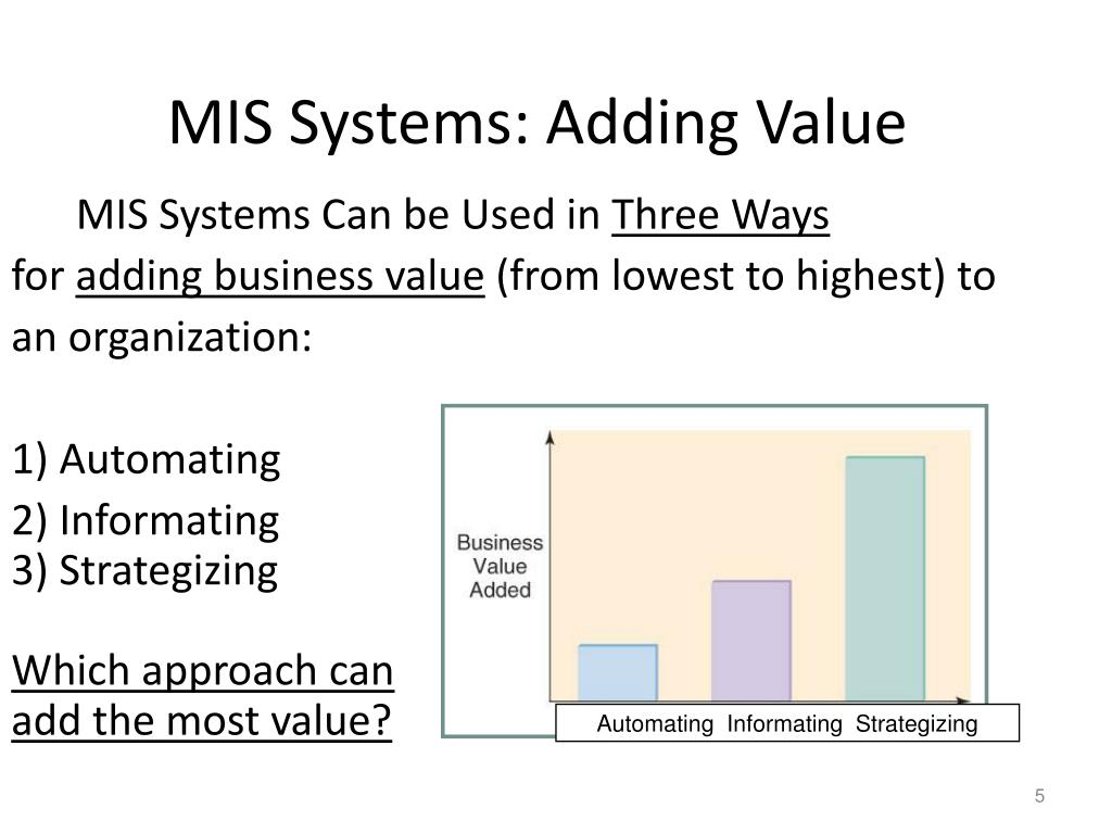 MIS Systems: Adding Value