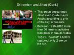 extremism and jihad cont