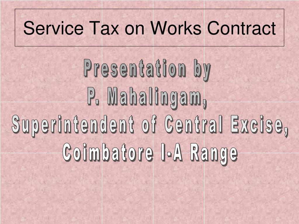 service tax on works contract l.