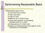 determining reasonable basis