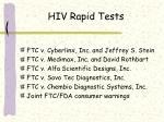 hiv rapid tests