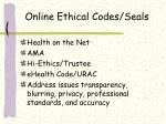 online ethical codes seals
