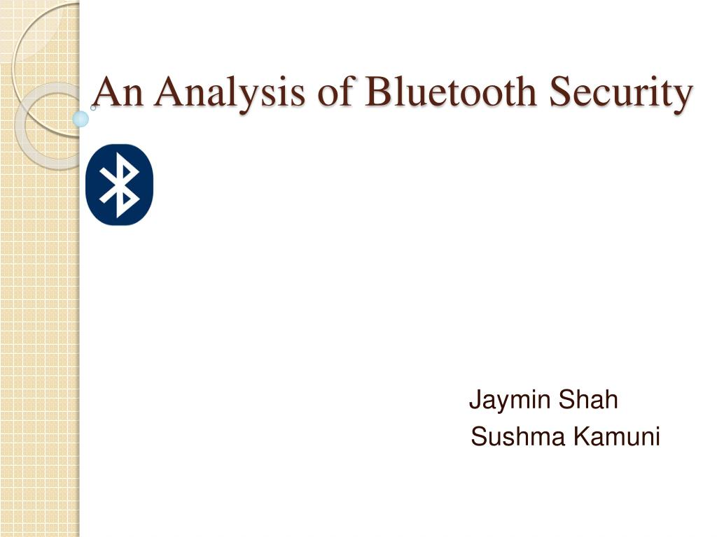 an analysis of bluetooth security l.