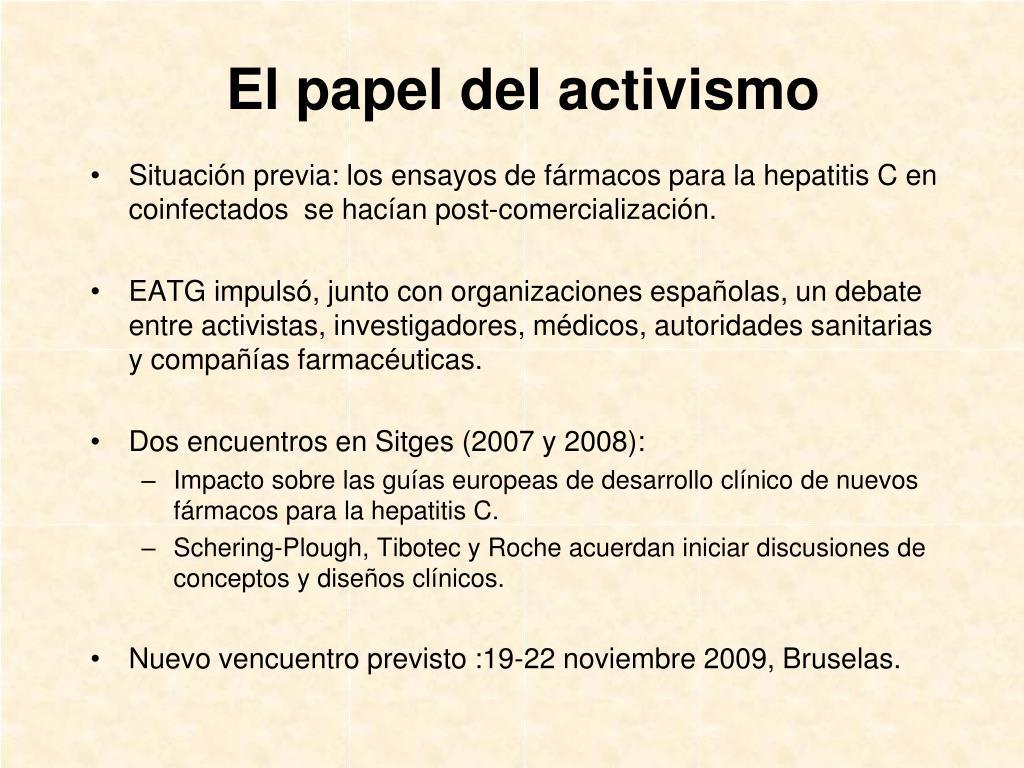 El papel del activismo