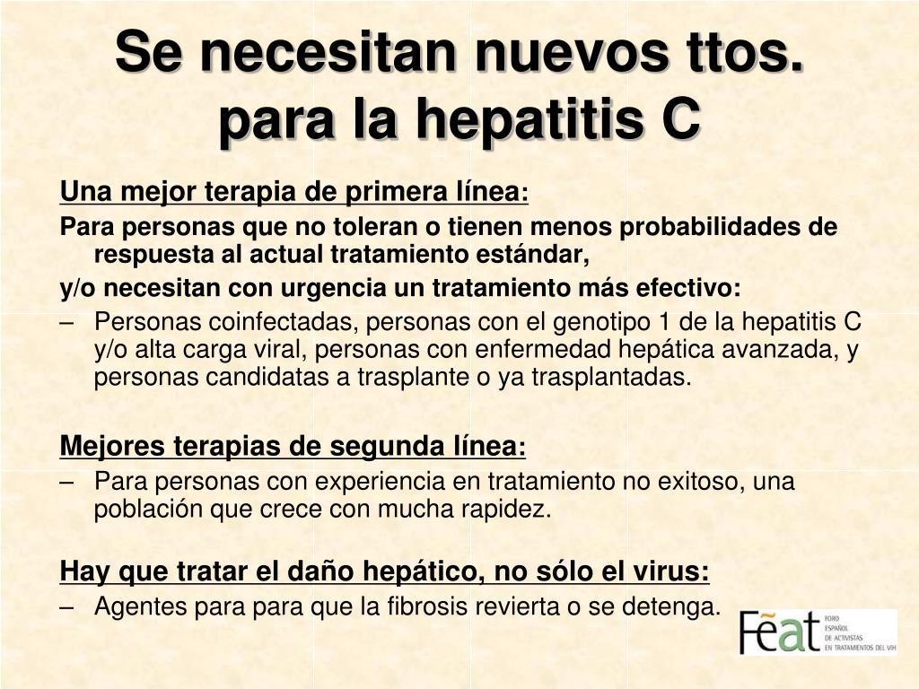 Se necesitan nuevos ttos. para la hepatitis C