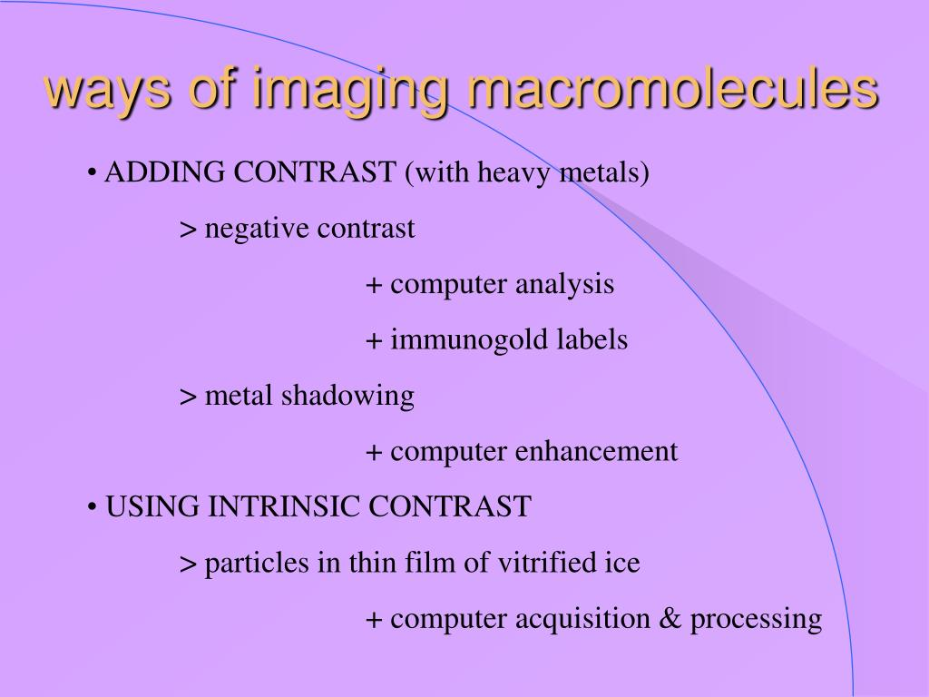 ways of imaging macromolecules