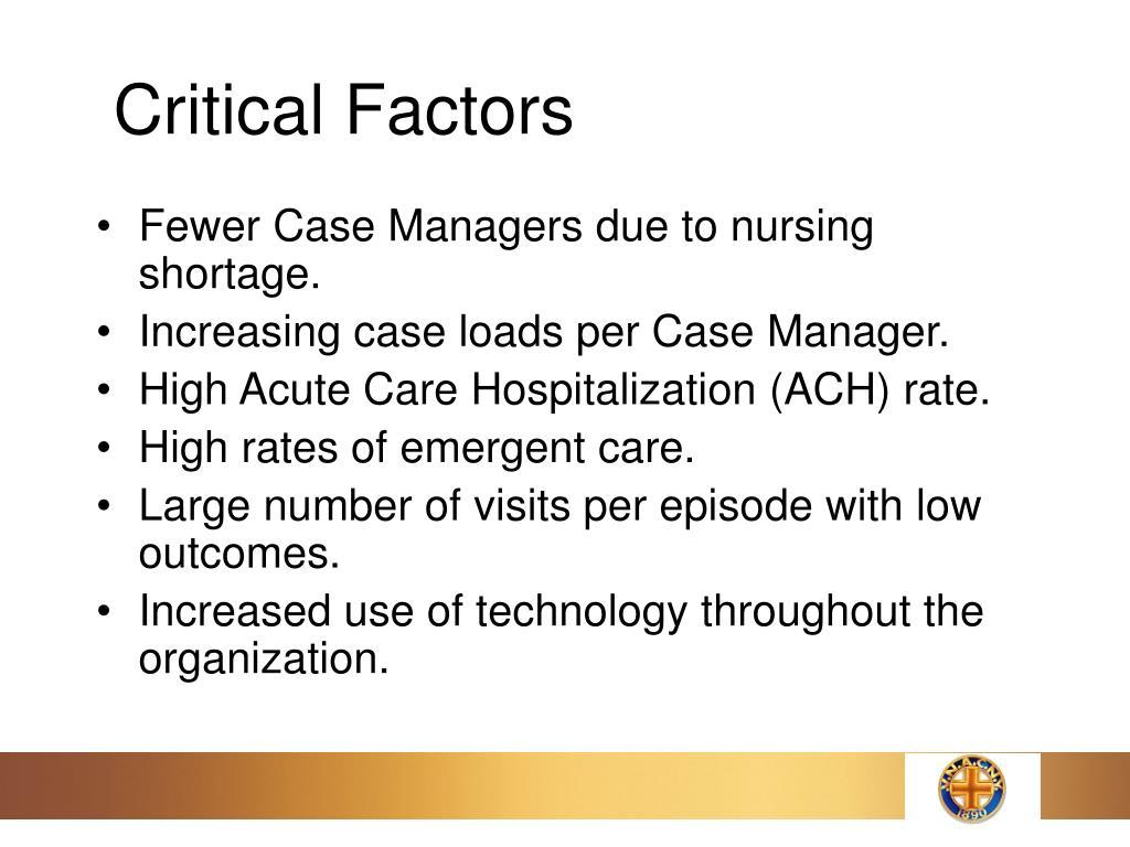 Critical Factors