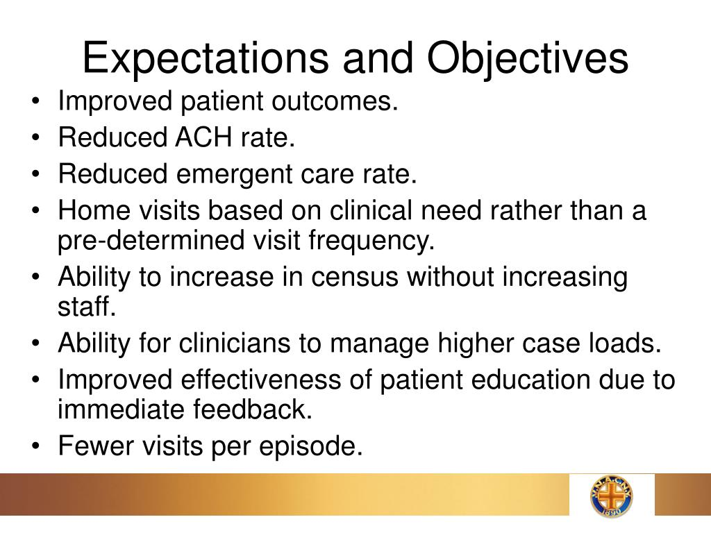 Expectations and Objectives