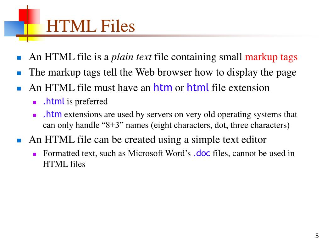 HTML Files