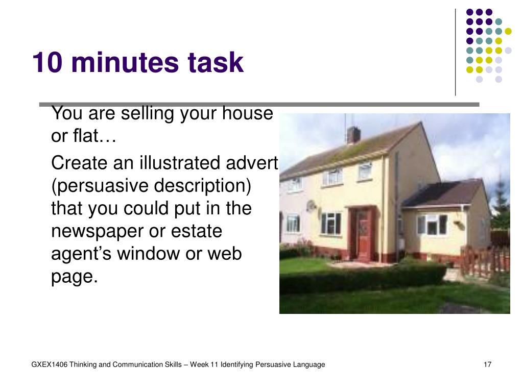 10 minutes task