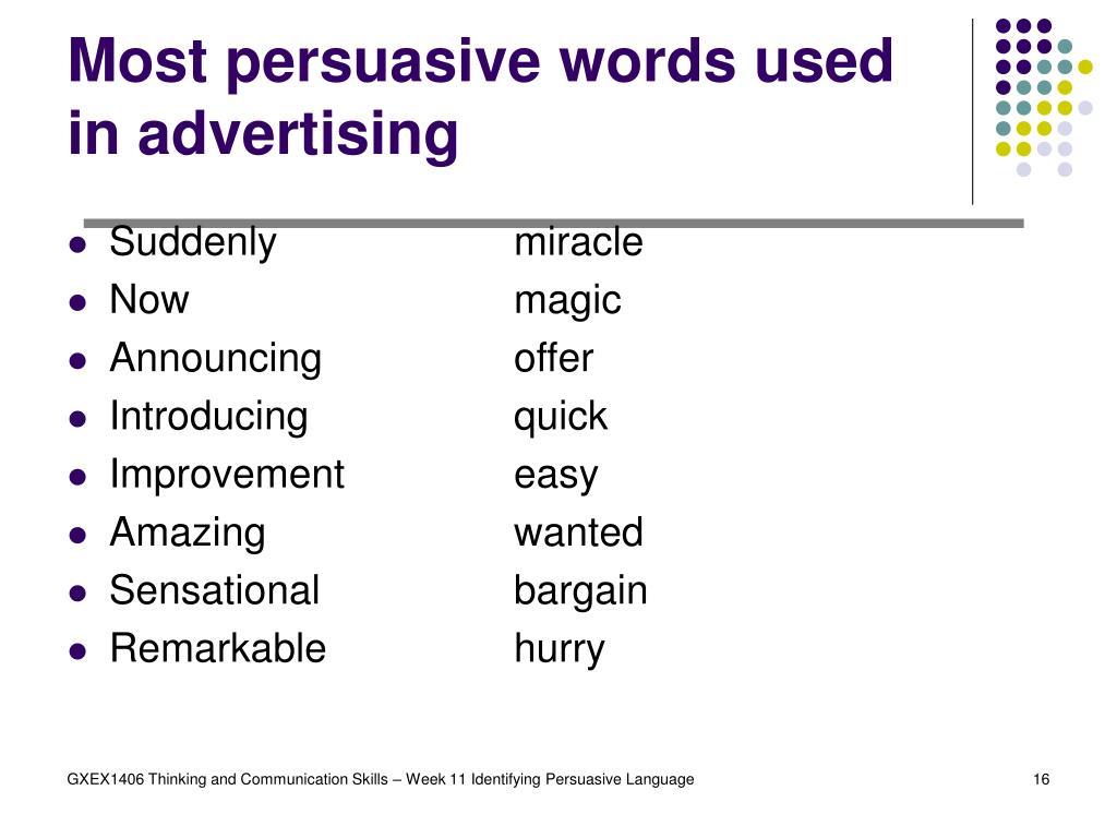 Most persuasive words used in advertising