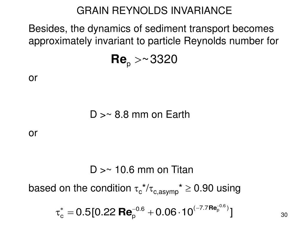 GRAIN REYNOLDS INVARIANCE