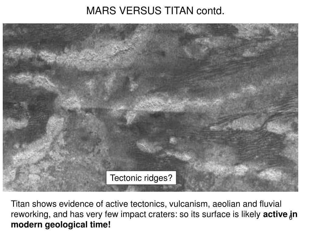 MARS VERSUS TITAN contd.
